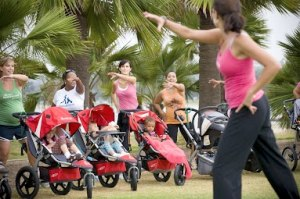 moms at a Stroller Strides class